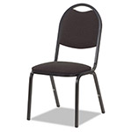 Virco 8917 Series Fabric Upholstered Stack Chair, 18w x 22d x 35-1/2h, Black, 4/Carton