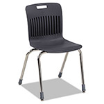 Virco Analogy Ergonomic Stack Chair, Black/Chrome, 4/Carton