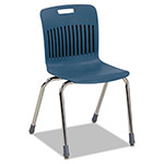 Virco Analogy Ergonomic Stack Chair, Navy/Chrome, 4/Carton