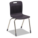 Virco Analogy Extra-Large Ergonomic Stack Chair, Black/Chrome, 4/Carton
