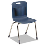 Virco Analogy Extra-Large Ergonomic Stack Chair, Navy/Chrome, 4/Carton