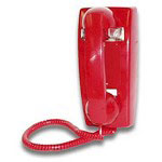 Viking Dial-Less Wall Phone For Ringdown Courtesy Or Emergency Built In Volume Adjustable Ringer