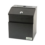 "Vertiflex Products Steel Suggestion Box with Locking Top, 7"" x 6"" x 8-1/2"", Black"