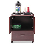 Vertiflex Products Mobile Deluxe Coffee Bar with 2 Door Cabinet & Drawer, Mahogany