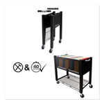 "Vertiflex Products Open Top Filing Cart, 14""x28""x27"", Black"