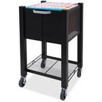 "Vertiflex Products Sidekick File Cart, 13-3/4""x15-1/2""x26-1/4"", Black"