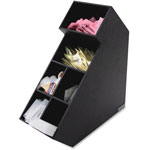 Vertiflex Products Vertical Organizer, 6-Compartment, Black