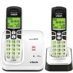 Vtech 6219-2 DECT 6.0 White/Black Expandable 2-Handset Cordless Phone System with Caller ID and Handset Speakerphone