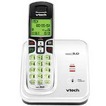 Vtech 6219 DECT 6.0 White/Black Expandable Cordless Phone with Caller ID and Handset Speakerphone