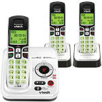 Vtech 6229-3 Expandable Three Handset Cordless Phone System with Digital Answering Device