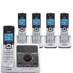 Vtech DS6121-5 DECT 6.0 Digital Five Handset Answering System with Caller ID