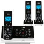 Vtech 6225-3 Slim Expandable Three Handset Cordless Phone System with Digital Answering Device