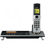 Vertiflex Products Phone System, 5.8GHz, Expandable, CID/Call Wait, Silver/Black