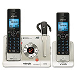 Vtech LS6475-3 Digital Answering System, Base, Cordless Headset and Handset