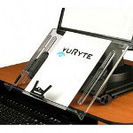 "VU Ryte Ergonomic Document Holder, 14""x11"", Clear"