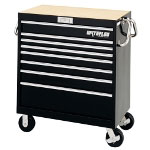 "Waterloo 36"" Magnum 8 Drawer Tool Cart - Black"