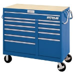 "Waterloo 46"" Wide Magnum 12 Drawer Tool Cart - Blue"
