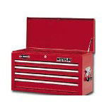 "Waterloo 26"" 6 Drawer Ball Bearing Chest, Red"