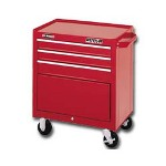 "Waterloo 26"" 3 Drawer Ball Bearing Chest, Red"