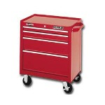 "Waterloo 26"" 4 Drawer Ball Bearing Chest, Red"