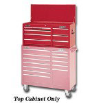 "Waterloo 40"" 9 Drawer Ball Bearing Chest, Red"