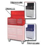 "Waterloo 40"" 11 Drawer Tool Chest, TRAXX Series, Red"