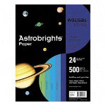 "WaUSAu Papers Astrobrights® Paper, 24lb., 8-1/2"" x 11"", Acid-free, Assorted Cool colors"