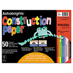 Wausau Papers Astrobrights Construction Paper, 72-lb., 12 x 18, Assorted, 50 Sheets/Pack