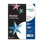 "Wausau Papers Paper, 24Lb, 8-1/2""x11"", 500/RM, Stardust White"