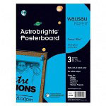 Wausau Papers Premium Poster Board, 22x28, Lunar Blue™, 24 Per Carton
