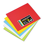WaUSAu Papers Astrobrights® Premium Poster Board, 12 x 14, Assorted Colors, 50 Per Carton