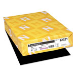 Neenah Paper Astrobrights Colored Paper, 24lb, 8-1/2 x 11, Eclipse Black, 500 Sheets/Ream