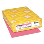 Neenah Paper Exact Brights Paper, 8 1/2 x 11, Bright Pink, 50 lb, 500 Sheets/Ream