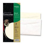 "Wausau Papers Executive Collection #10 Envelopes, 100% Cotton White, 28 lb, 4-1/8x9-1/2"", 25 Pack"