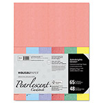 Wausau Papers Pearlescent Colored Paper, 65lb, 8-1/2 x 11, 48 Sheets/Pack