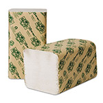 Wausau Papers EcoSoft Green Seal Folded Towels, 9 x 10, Natural White, 268/Pack