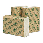 Wausau Papers EcoSoft Multifold Towels, 9 1/8 x 9 1/2, White, 200/Pack