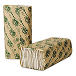 Wausau Papers EcoSoft Green Seal Folded Towels, 10 1/8 x 13, Natural White, 150/Pack
