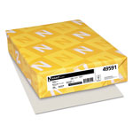 Neenah Paper Exact Index Card Stock, 110 lbs., 8-1/2 x 11, Gray, 250 Sheets/Pack
