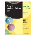 "Wausau Papers Vellum Bristol Paper, 67 lb, 8-1/2""x11"", 92 Bright, 250/Pack, Yellow"