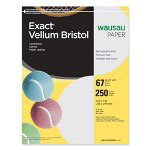 "Wausau Papers Vellum Bristol Paper, 67 lb, 8-1/2""x11"", 92 Bright, 250/Pack, Gray"