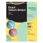"Wausau Papers Vellum Bristol Paper, 67 lb, 8-1/2""x11"", 92 Bright, 250/Pack, Green"