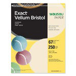 "Wausau Papers Vellum Bristol Paper, 67 lb, 8-1/2""x11"", 92 Bright, 250/Pack, Ivory"