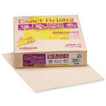 "WaUSAu Papers Exact® Vellum Bristol Paper, 67 lb., 8 1/2""x11"", Ivory"