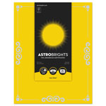 "Astrobrights Foil Enhanced Certificates, 8 1/2"" x 11"", Solar Yellow, 25/Pk"