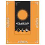 "Astrobrights Foil Enhanced Certificates, 8 1/2"" x 11"", Cosmic Orange, 25/Pk"