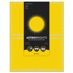 Astrobrights Foil Enhanced Certificates, 8.5 x 11, Solar Yellow/Silver Foil, 2/Sht,15Sh/Pk