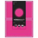 Astrobrights Foil Enhanced Certificates, 8.5 x 11, Fireball Fuchsia/Silver Foil,2/Sht,15Sh/Pk