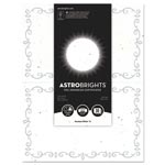 Astrobrights Foil Enhanced Certificates, 8.5x11, Stardust White/Silver Foil, 2/Sheet,15Sh/Pk