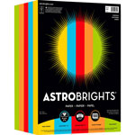 "Astrobrights Color Paper -""Everyday"" Assortment, 8 1/2 x 11, 5 Colors, 250 Sheets"